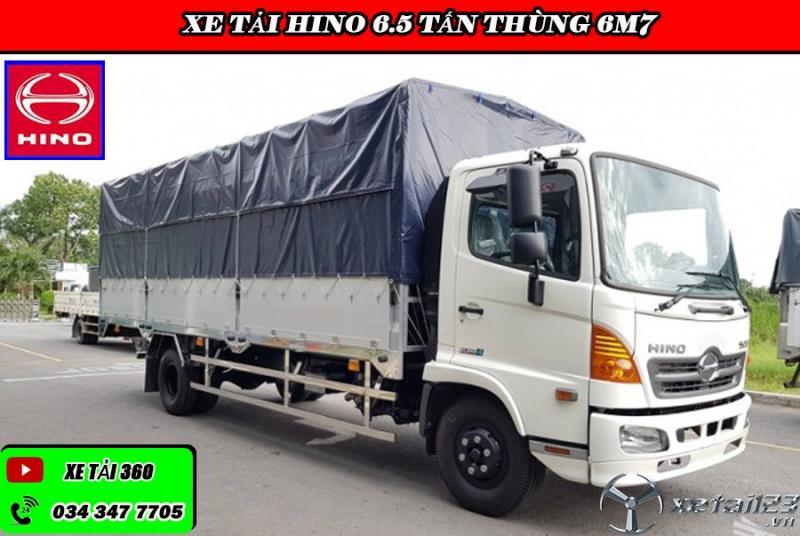 Xe tải hino 6t5 thùng 6m7