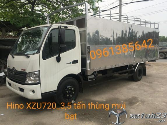 Gía xe tải hạng trung XZU720L 3,5 tấn thùng mui bạt