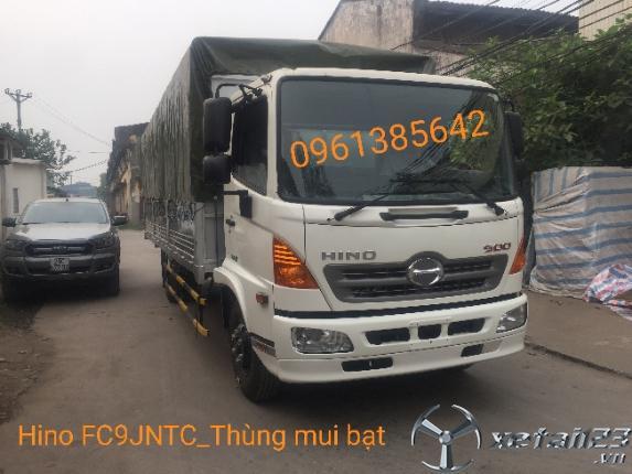 Gía xe tải Hino FC9JNTC 6 tấn thùng mui bạt