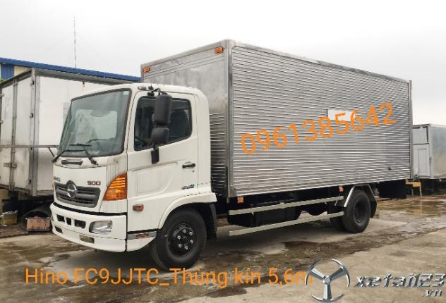 Xe tải Hino FC9JJTC 6,2 tấn thùng kín. Hỗ trợ ngân hàng lên đến 85%