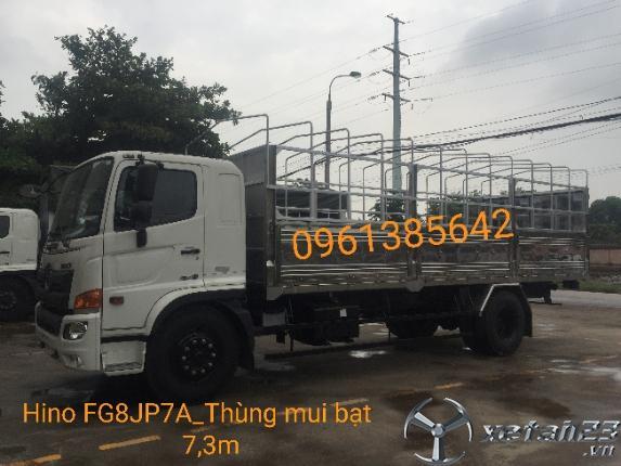 Xe tải Hino FG8JP7A 8,5 tấn thùng mui bạt. Hỗ trợ vay vốn ngân hàng lên đến 85%