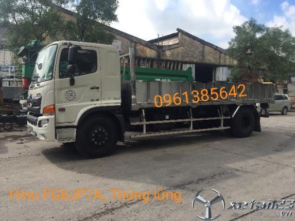 Xe tải Hino FG8JP7A 9 tấn thùng lửng 7,3m. Giao xe ngay tại nhà