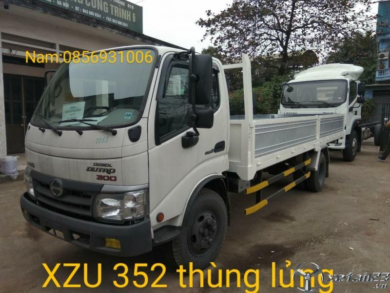 Xe tải hino xzu352l thùng lửng tải trọng 3,5 tấn nhập khẩu