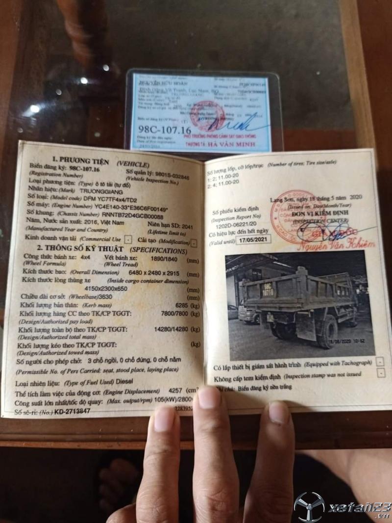 Cần bán xe Trường Giang đời 2016 với giá siêu rẻ chỉ 340 triệu