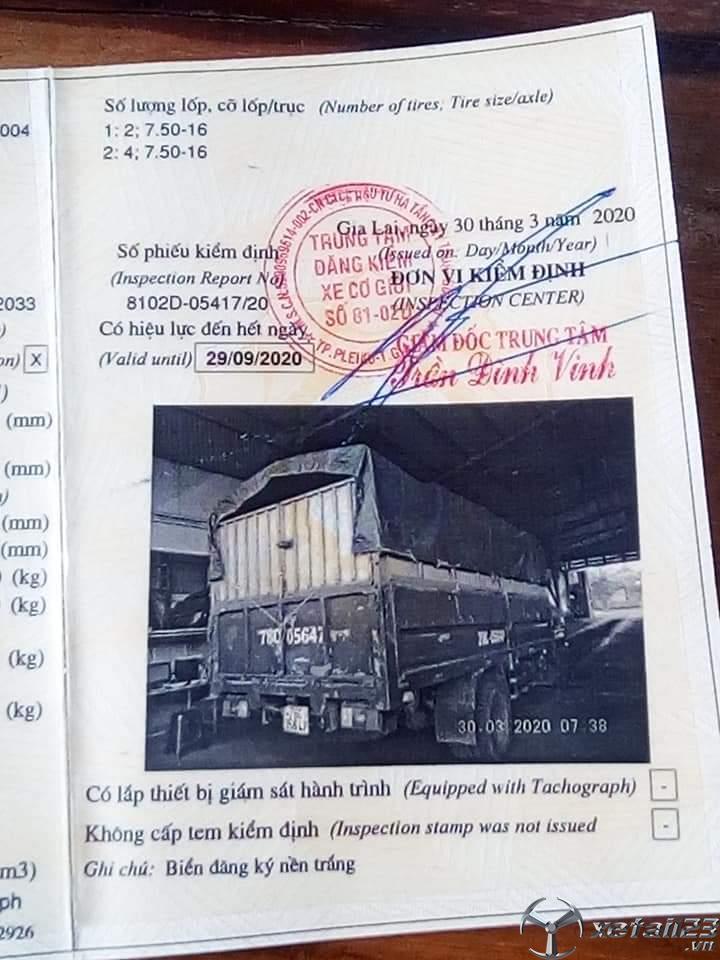 Thanh lý gấp xe Thaco FC 3,5 tấn đời 2008 thùng mui bạt chỉ với 90 triệu