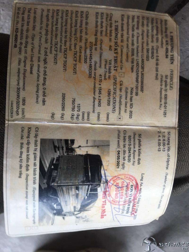 Cần bán xe tải Vinaxuki 750 Kg đời 2008 thùng mui bạt giá tốt nhất