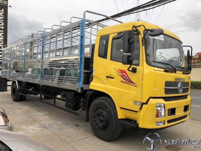 Xe tải dongfeng 9 tấn thùng bạt động cơ cummin nhập khẩu