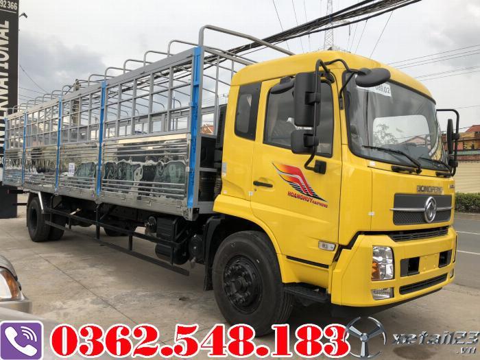Xe tải hoàng huy 9 tấn thùng dài 9.5 mét động cơ cummin nhập khẩu