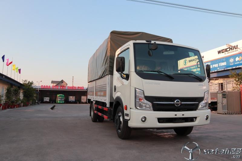 Xe tải nissan 3.5 tấn thùng bạt, động cơ nissan nhập khẩu