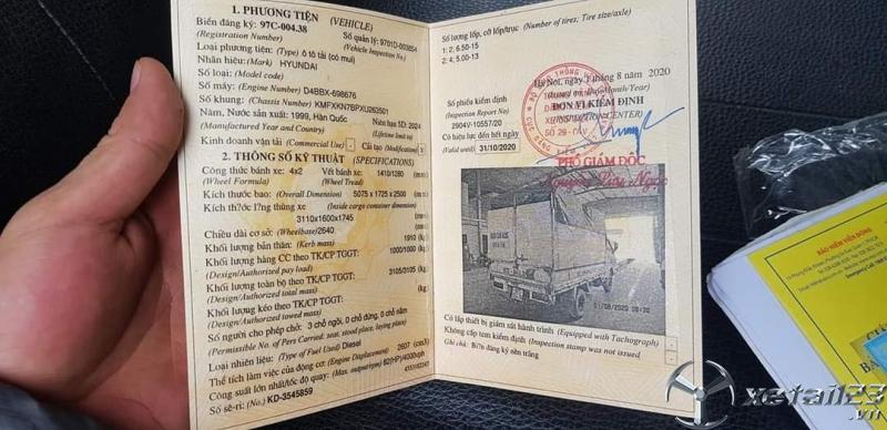 Thanh Lý gấp xe Hyundai Porter 1 tấn đời 1999 thùng mui bạt với giá siêu rẻ chỉ 71 triệu