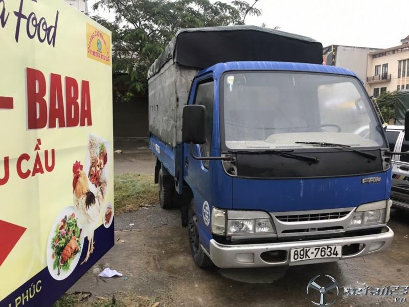 Bán xe tải Faw 1,25 tấn đời 2013 thùng mui bạt