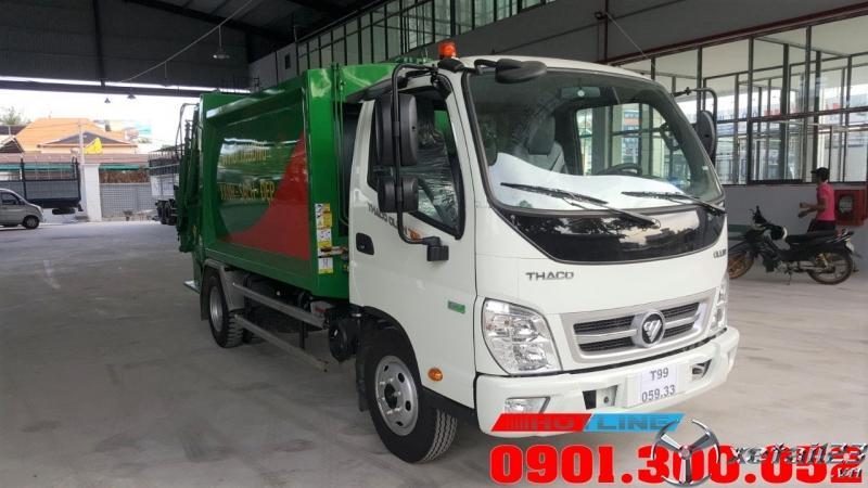 Xe cuốn ép rác 5 khối Thaco Ollin 700 Euro 4  sản xuất 2020