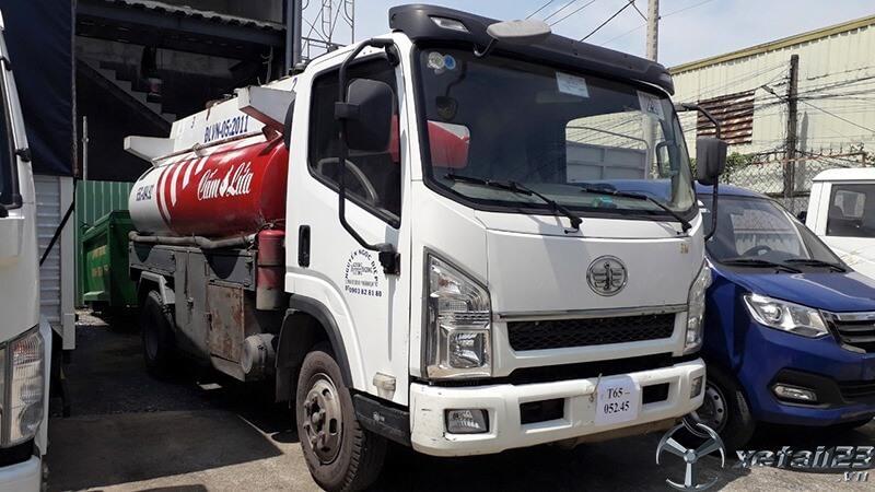hanh lý xe bồn faw chở xăng dầu/ xe bồn 7 khối chở xăng dầu/ Giá xe tải faw 7 khối chở xăng dầu/ xe