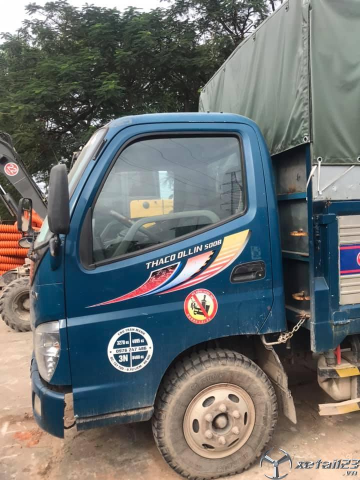 Bán Thaco Ollin 500B 5 tấn sx 2015 thùng mui bạt giá 240 triệu