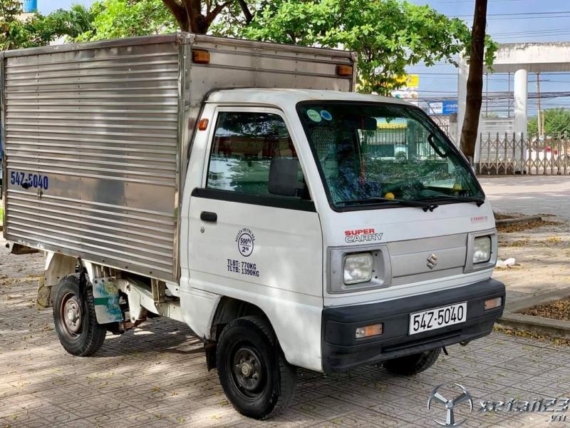Rao bán xe tải Suzuki đời 2009 thùng kín giá rẻ chỉ 105 triệu