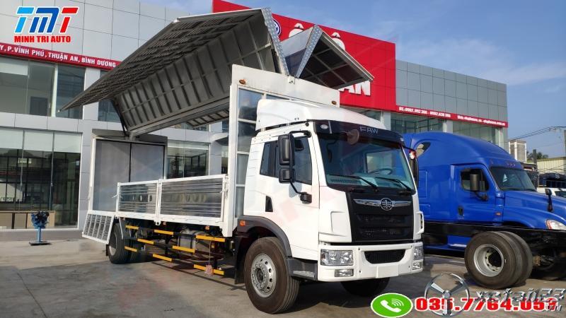 faw 9 tấn thùng kín cánh dơi 8m2 giá tôt 0357764053