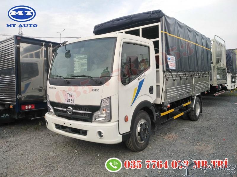 xe tải 3 tấn 5 thùng kín 4m3 chở suất ăn công nghiệp|bánh kẹo.