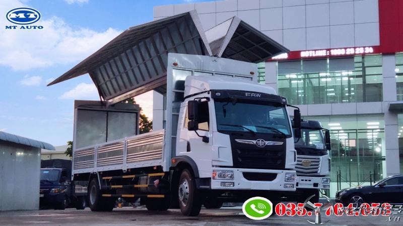 xe tải chuyên chở pallet gỗ , bao bì giấy , mốp xốp , linh kiện điện tử -MT AUTO