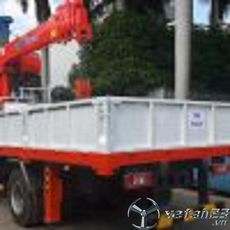Xe cẩu tự hành  Kanglim 5 tấn  gắn trên Thaco ollin 700B chất lượng đỉnh cao , giá tốt nhất