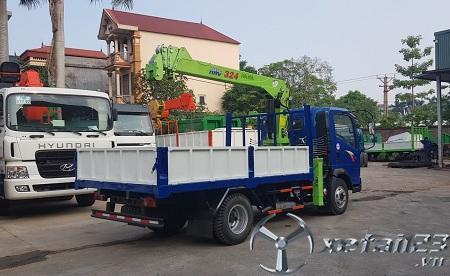 Xe Howo gắn cẩu tự hành Hana 3 tấn mới 100% giá tốt nhất thị trường