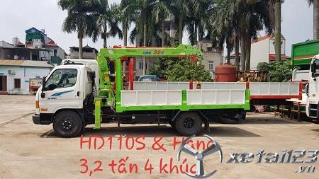 Xe Hyundai HD110 gắn cẩu Hana mới 100% , hỗ trợ cho vay trả góp lên tới 75 %