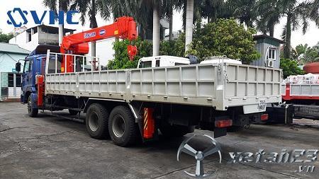 Xe Thaco Auman C240C gắn cẩu tự hành Kanglim 8 tấn mới 100% , hỗ trợ cho vay trả góp lên tới 75%