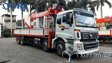 Xe Thaco Auman C300B gắn cẩu tự hành Kanglim 10 tấn mới 100% chất lượng cao