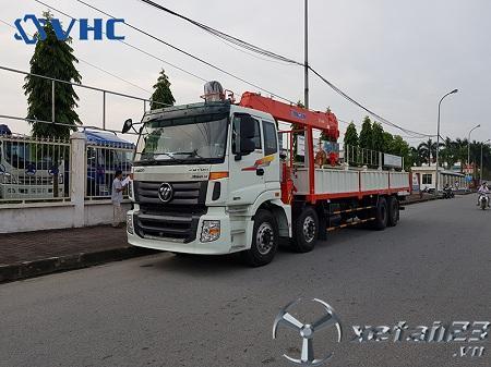 Xe Thaco Auman C300B gắn cẩu tự hành Kanglim 8 tấn mới 100% chất lượng cao, giá tốt nhất