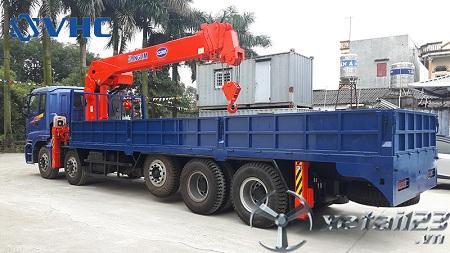 Xe Thaco Auman C34 gắn cẩu tự hành Kanglim 10 tấn mới 100% chất lượng cao , bảo hành dài hạn