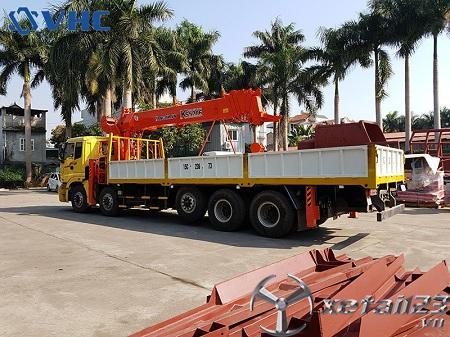 Xe Thaco Auman C34 gắn cẩu tự hành Kanglim 15 tấn mới 100% , hỗ trợ cho vay trả góp lên đến 75%