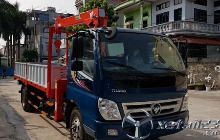 Xe  Thaco Ollin 700B gắn cẩu tự hành Hana mới 100% chất lượng , giá tốt nhất