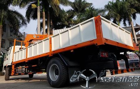 Xe Thaco Ollin 950A gắn cẩu tự hành Hana 5 tấn mới 100% chât lượng hàng đầu