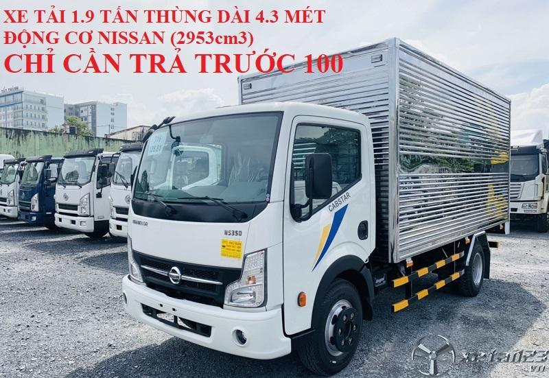 Xe tải 3.49 tấn thùng dài 4.3 mét trả trước 100 triệu