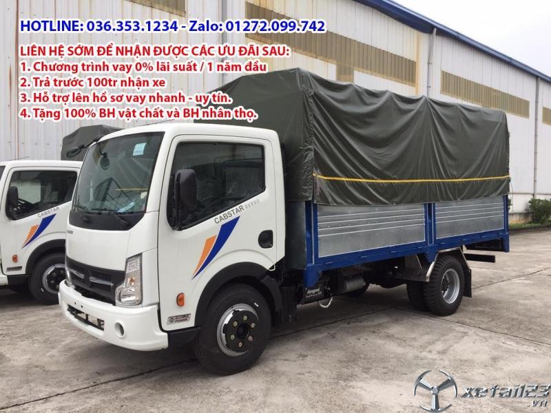 Bán xe tải 3,5 tấn của vinamotor động cơ nissan thùng bạt 4m3