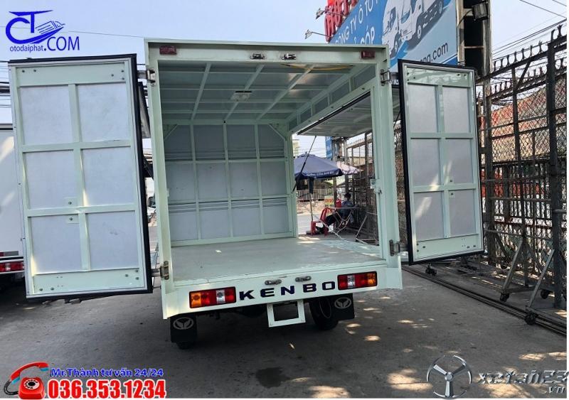 Xe tải KENBO 900Kg thùng kín, mở cánh dơi. Hỗ trợ trả góp 80% giá trị xe
