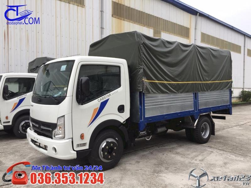 Xe tải Nissan 1t9 thùng bạt. Tặng ngay voucher 15tr tiền mặt cho 50 khách hàng đầu tiên