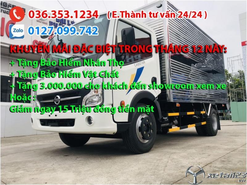 Xe tải Nissan 1t9 Thùng kín. Giá cực shock. Sắm xe phục vụ ngày tết ngay