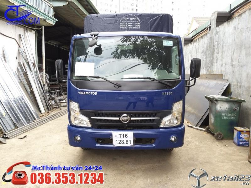 Xe tải Nissan 3t5 thùng mui bạt 4m3. Liên hệ ngay để trở thành Khách hàng may mắn nhất hôm nay