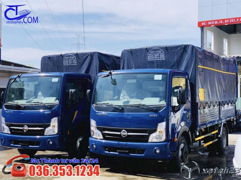 Xe tải Nissan 3t5 thùng mui bạt, Khuyến mãi đặc biệt cho 50 khách hàng đầu tiên. Liên hệ ngay hôm na