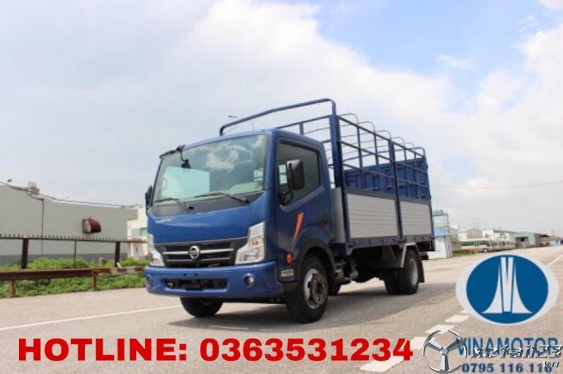 Bán xe tải 3,5 tấn của vinamotor máy dầu thùng bạt 4m3