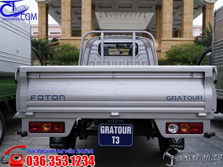 Xe tải Foton 990 Kg thùng lửng, Nhỏ gọn tiện nghi di chuyển đi trong Thành Phố