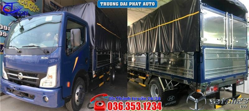 Xe tải Nissan 3t5 thùng mui bạt, Giá ưu đãi nhất hiện tại, không phát sinh chi phí