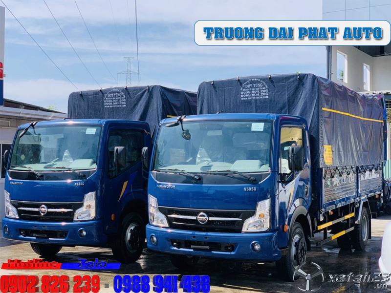 Giá xe tải nissan 1 tấn 9 thùng bạt trả trước 100tr
