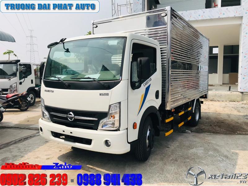 Giá xe tải nissan 1t9/xe tải vinamotor 1.9 tấn/xe tải vinamotor 1900kg thùng dài 4.3 mét