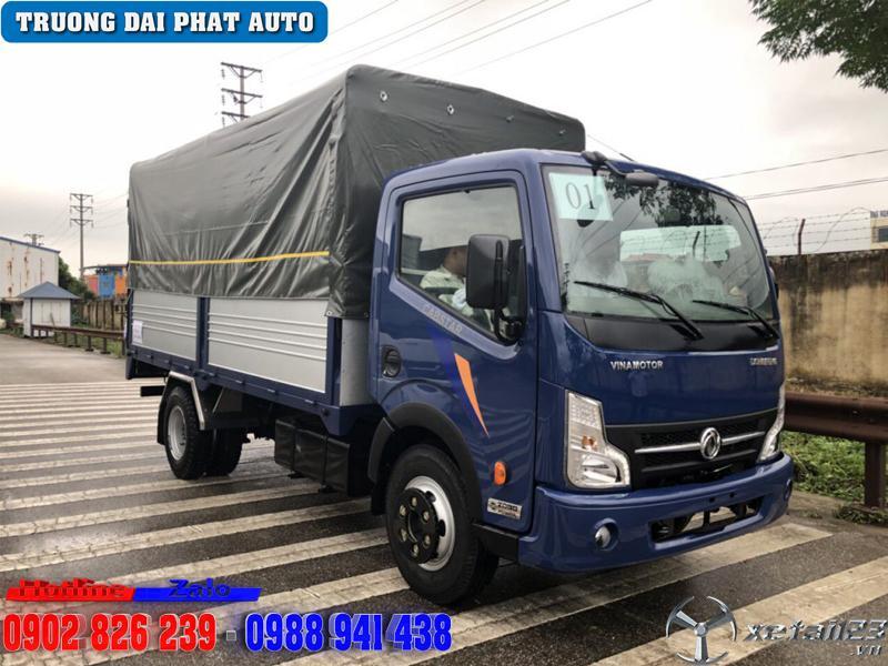 Giá xe tải vinamotor 1 tấn 9 thùng bạt dài 4m3