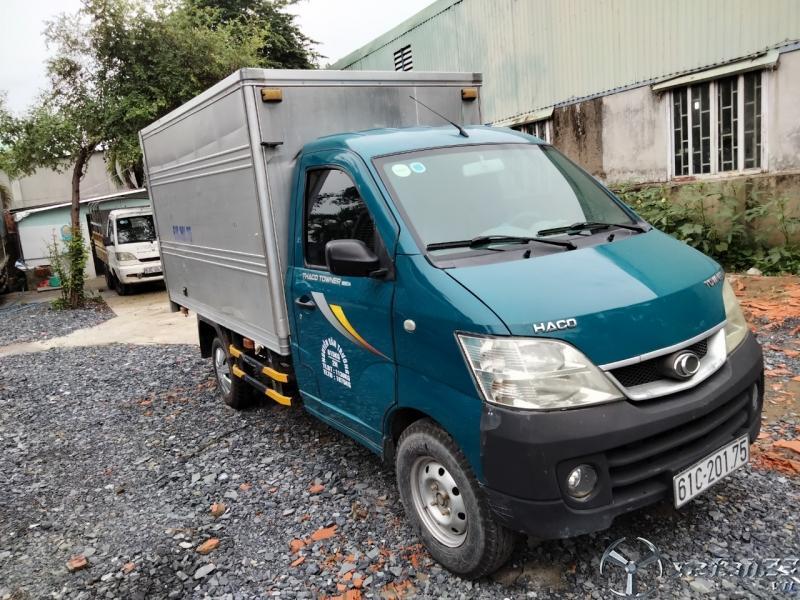 thaco towner 615kg thùng kín