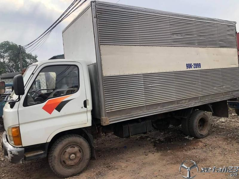 Thanh lý gấp xe Hyundai Mighty II 3,5 tấn sx 2000 thùng kín giá 125 triệu