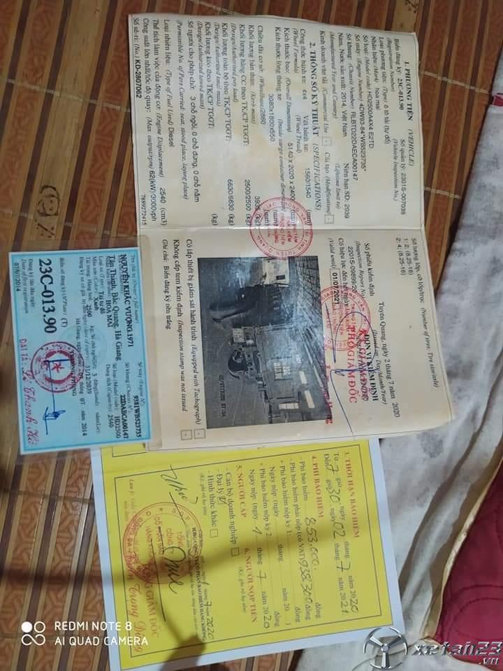 Cần bán chiếc xe ben Hoa Mai 2,5 tấn đời 2014