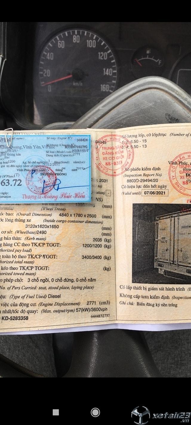 Rao bán xe Isuzu 1,4 tấn đời 2006 thùng kín giá rẻ nhất