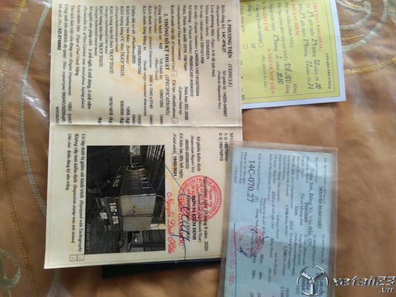 Thanh lý gấp xe Dongben đời 2010 thùng mui bạt giá chỉ 38 triệu